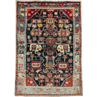 "Vintage Persian Malayer Rug – Size: 3' 4"" X 4' 9"" For Sale"