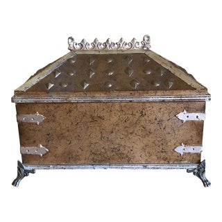 Distressed Gold Storage Box For Sale