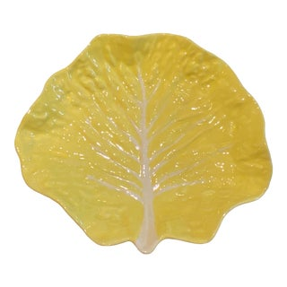 Mid 20th Century Yellow Cabbage Serving Plate For Sale