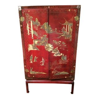 Chinese 19th Century Qing Dynasty Two Door Cabinet For Sale