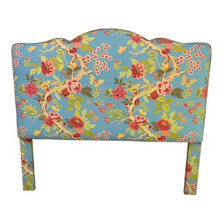 Queen Size Custom Post Colonial Floral Headboard For Sale