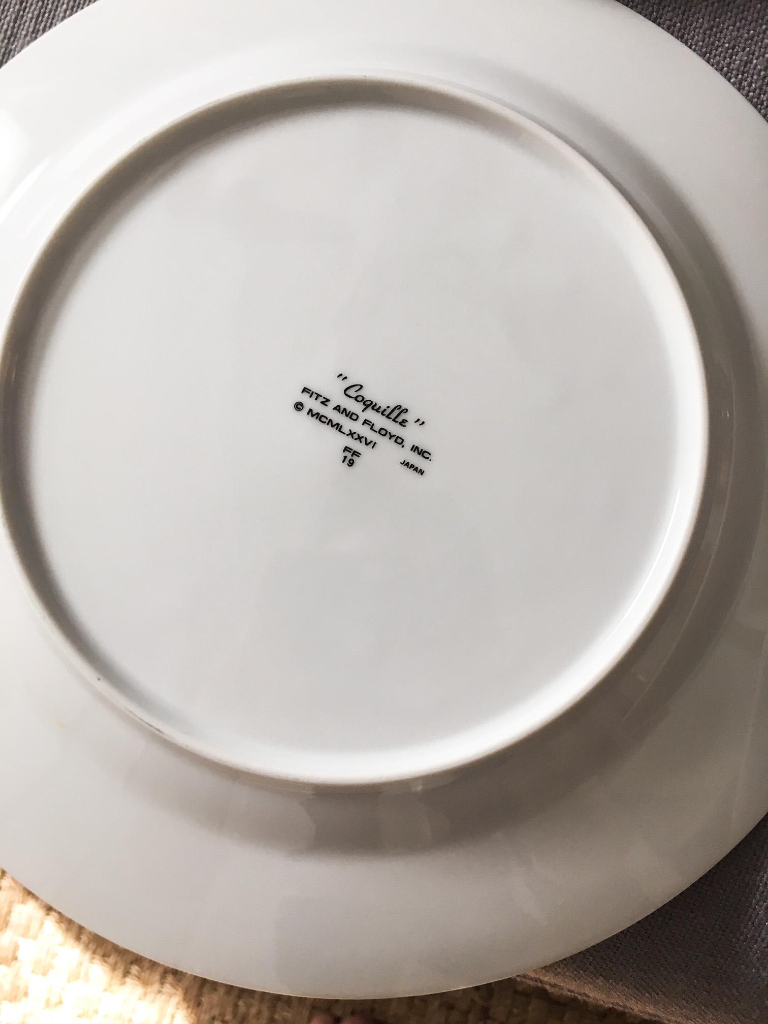 Fitz \u0026 Floyd Coquille Nautical Dinner Plates - Set of 8 - Image 6 ...  sc 1 st  Chairish & Fitz \u0026 Floyd Coquille Nautical Dinner Plates - Set of 8   Chairish