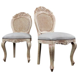 Pair of French Country Side Chairs For Sale