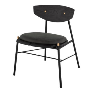 Kink Dining Chair In Storm Black For Sale