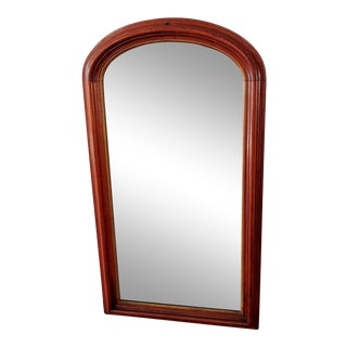 Early 19th Century French Louis Philippe Period Oak Mercury Glass Mirror For Sale