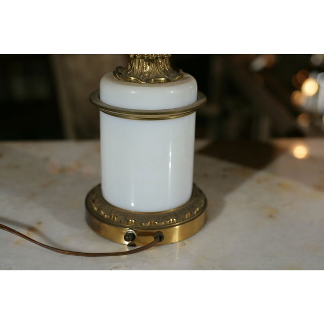 Bronze & Milk Glass Candelabras - A Pair - Image 6 of 6