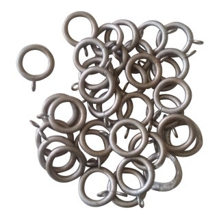 The Finial Company, Curtain Rod Rings, #112 Silver With Gold - Set of 35 For Sale