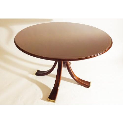Osvaldo Borsani Osvaldo Borsani Rare and Important Center Table in Cherry and Glass For Sale - Image 4 of 9