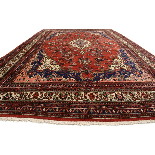 Islamic Vintage Kabudarahang Hamadan Persian Palace Rug - 10′6″ × 17′2″ For Sale - Image 3 of 8