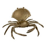 Image of 20th Century Figurative Brass Crab Trinket Box For Sale