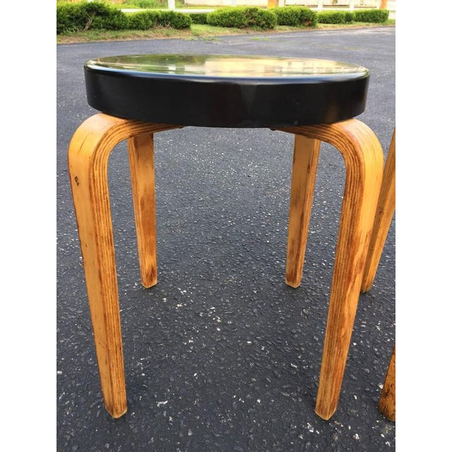 SOLD-Authentic Thonet Stacking Stool Tables - a Pair For Sale In New York - Image 6 of 11