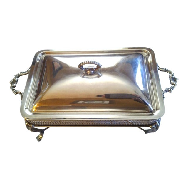 Vintage Silver Plate Covered Chafing Set With Alcohol Burner - Set of 3 For Sale