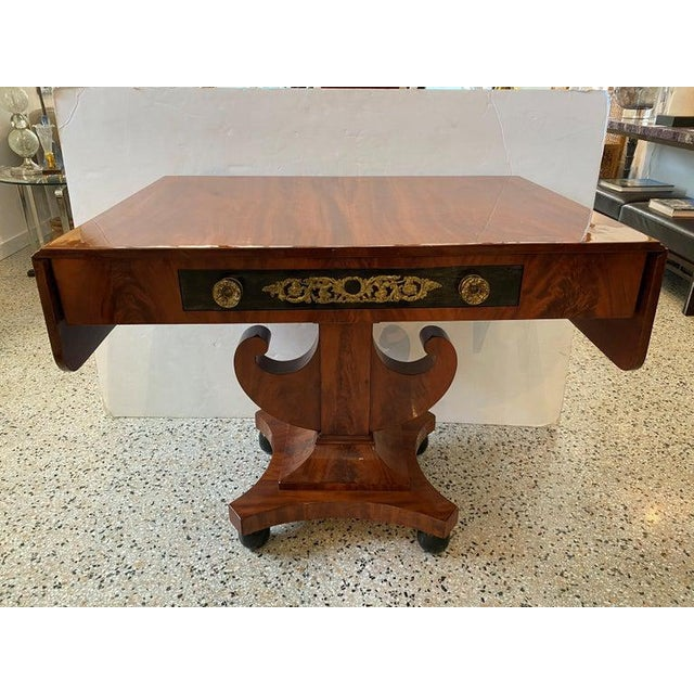 Antique 1820s-1830s Baltic Regency Style Library Table For Sale - Image 12 of 13