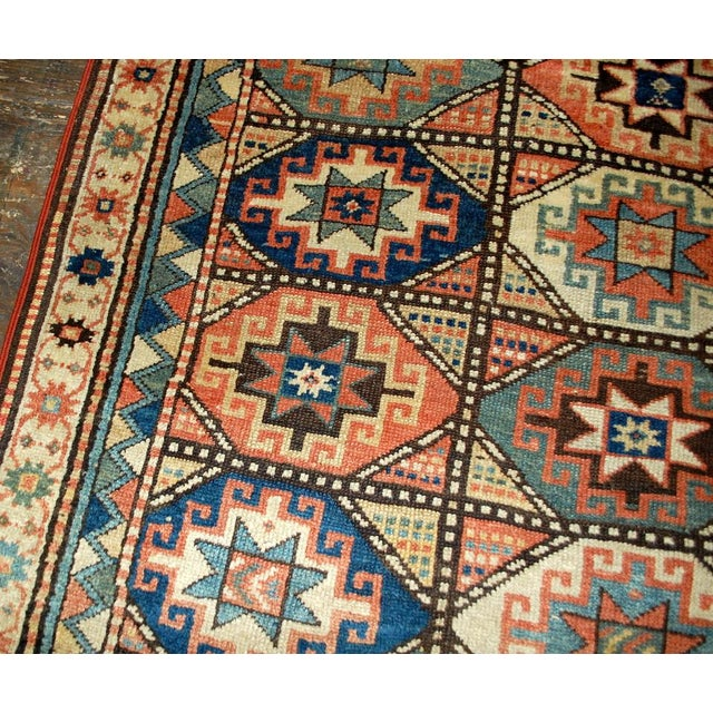 Textile 1880s Antique Hand Made Caucasian Kazak Mohan Rug- 3′10″ × 7′9″ For Sale - Image 7 of 10