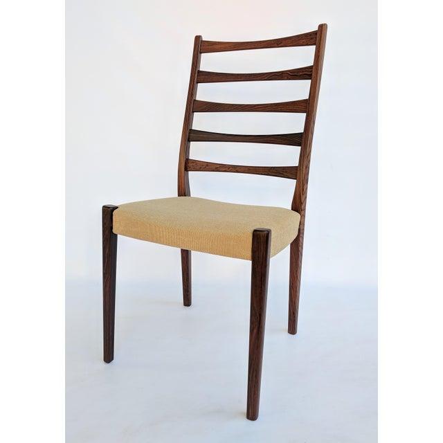 Svegards Markaryd 1960s Danish Modern Svegards Markaryd Rosewood Ladder Back Dining Chairs - Set of 4 For Sale - Image 4 of 13