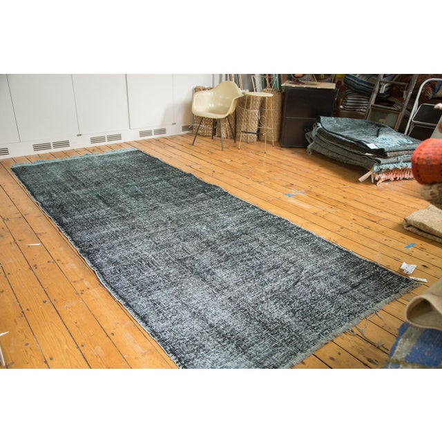 "Vintage Overdyed Gallery Rug Runner - 4'11""x11'10"" - Image 2 of 9"