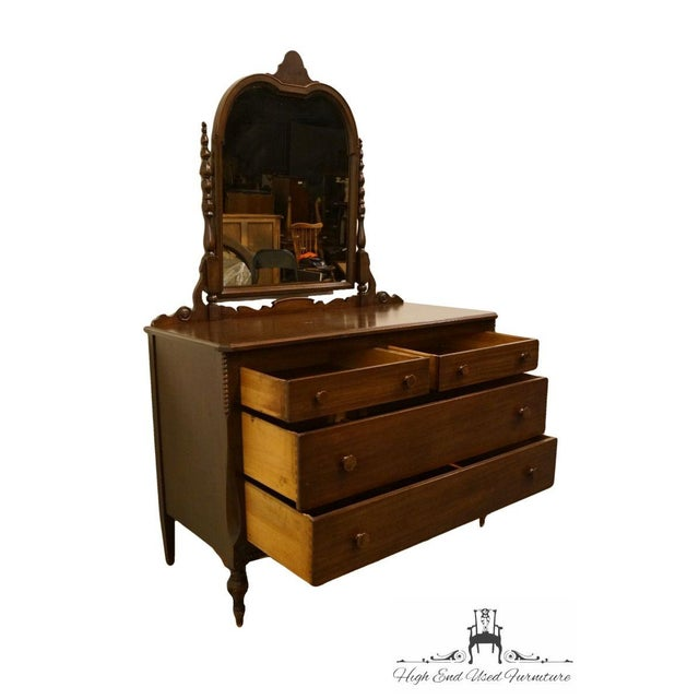 """Brown 1960s Traditional Sligh Furniture Co. Grand RapidsMahogany 48"""" Dresser With Mirror For Sale - Image 8 of 13"""