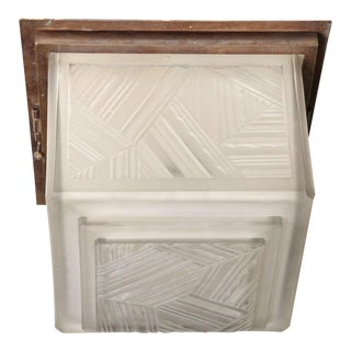 Art Deco Flush Mount by Marius Ernest Sabino For Sale