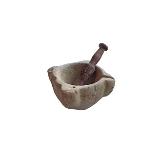 19th Century French Mortar and Pestle For Sale