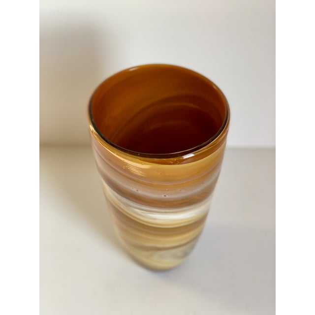 Abstract Italian Glass Vase For Sale - Image 3 of 6