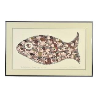 """Curt Frankenstein L/E Lithograph """"The Non-Conformist"""" Surrealist Fish For Sale"""