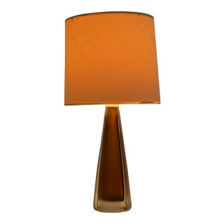 Kosta Mid-Century Cut Glass Lamp For Sale
