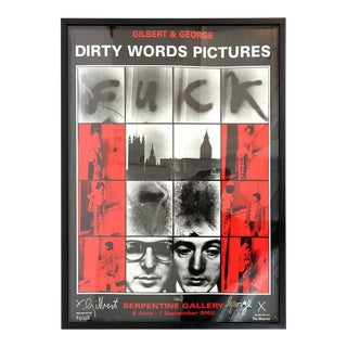 """Dirty Words Pictures Fuck"" by Gilbert & George For Sale"