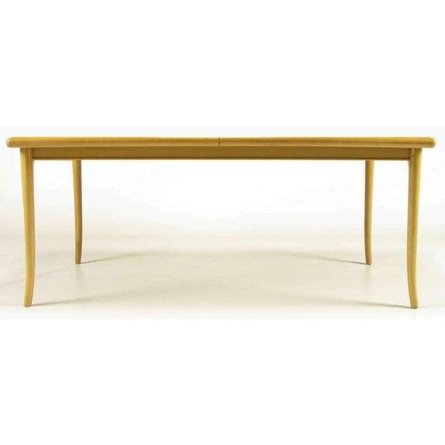 T.H.Robsjohn-Gibbings Bleached & Glazed Mahogany Saber Leg Dining Table - Image 2 of 8