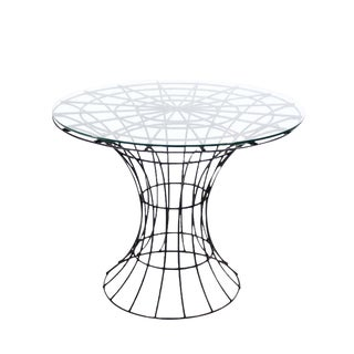 John Risley Four Pieces Welded Wire Outdoor Dining Dinette Set