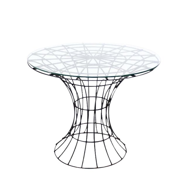 John Risley Four Pieces Welded Wire Outdoor Dining Dinette Set For Sale