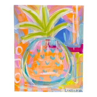 """""""Pineapple #6"""" Abstract Painting by Christina Longoria For Sale"""