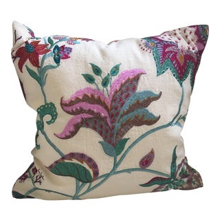 "Manuel Canovas Beauregard Embroidered Linen Pillow Cover - 20"" X 20"""