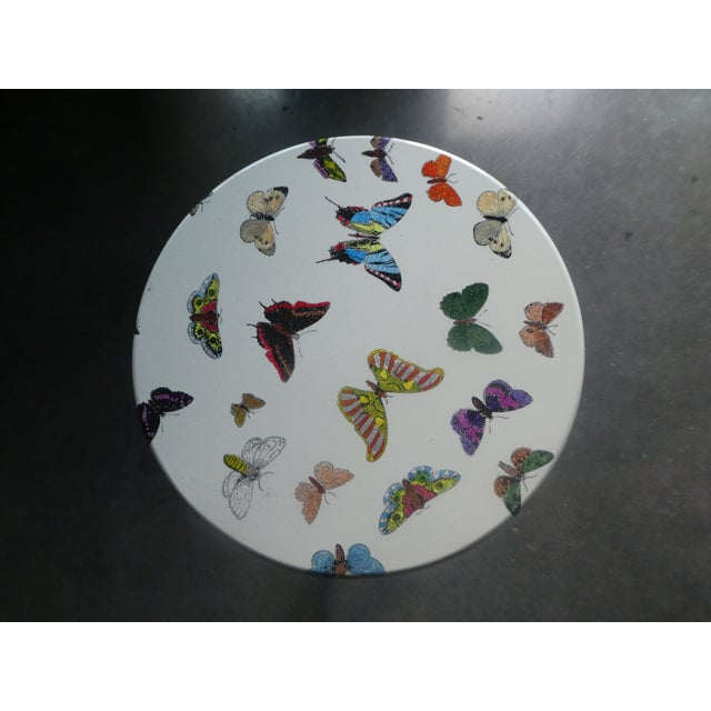 1960s 1960s Mid-Century Modern Fornasetti Butterfly Side Table For Sale - Image 5 of 9