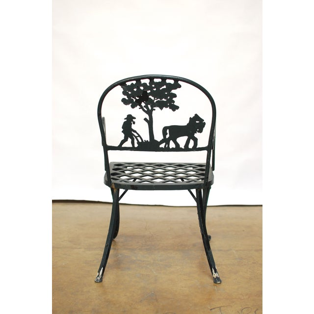 Vintage Cast Aluminum Garden Chairs - Image 4 of 6