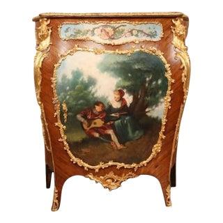 1880s Verne Martin One Door Bombe Cabinet