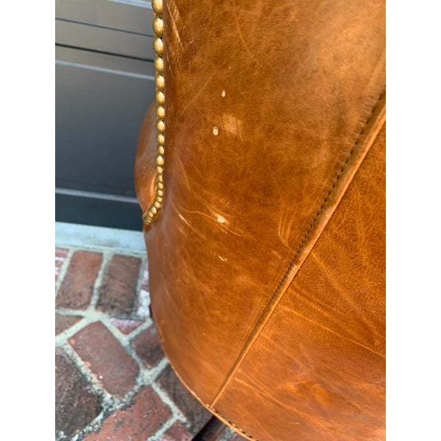 Late 20th Century Late 20th Century Retro Tufted Leather Desk Chair For Sale - Image 5 of 8