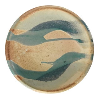 Vintage Drip Studio Pottery Plate For Sale