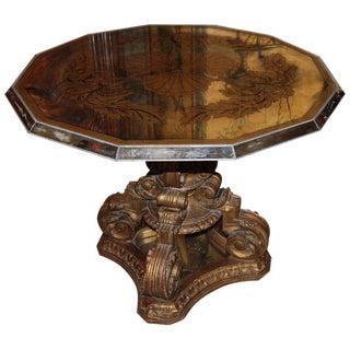 Art Deco Mirrored Églomisé Table
