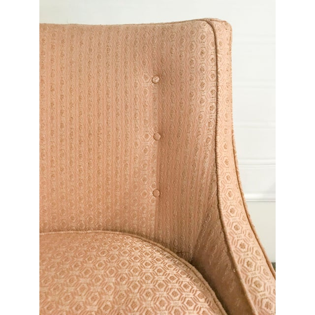 Mid-Century Modern Pale Pink Accent Chair - Image 3 of 11