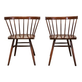 1940s Vintage George Nakashima Early Studio Straight Chairs- a Pair For Sale