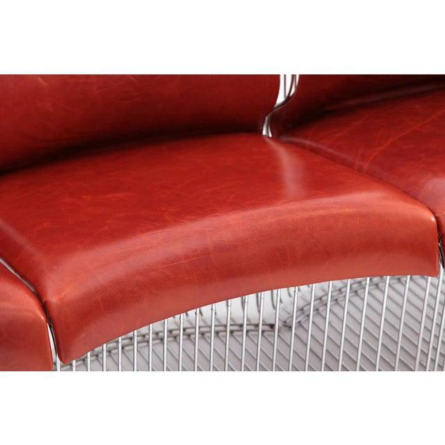 Leather 1970s Vintage Verner Panton for Fritz Hansen Pantonova Chairs- Set of 3 For Sale - Image 7 of 8