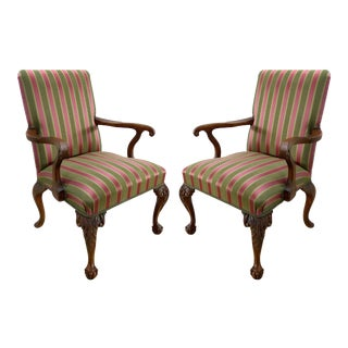 Angelo Cappellini Chippendale Style Armchairs-A Pair For Sale