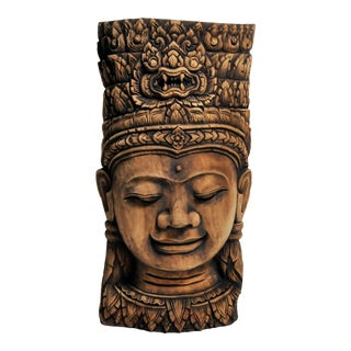 Southeast Asian Goddess Carving Sculpture For Sale