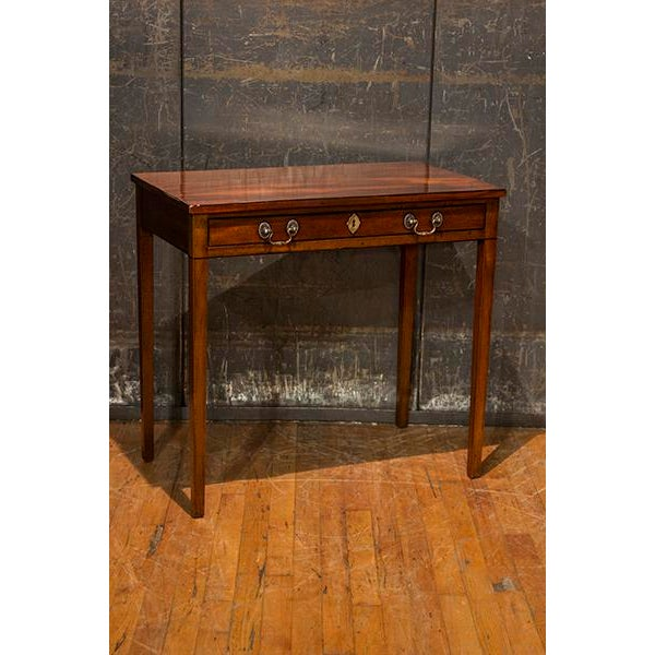 Late 19th Century 19th Century English Traditional Mahogany Side Table For Sale - Image 5 of 5