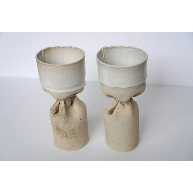 Organic Pottery Candle Holders - Image 5 of 5