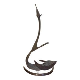 Hand Forged Organic Form Metal Sculpture