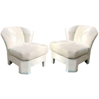 1980s Vintage Ambienti Furniture Lounge Chairs - a Pair For Sale