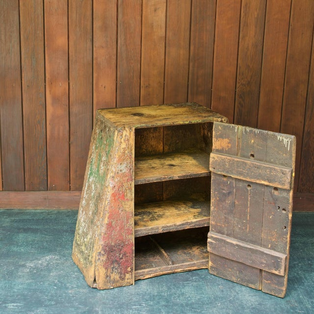 Primitive Industrial American Factory Craft Trapezoidal Crane Operators Cabinet For Sale In Washington DC - Image 6 of 10