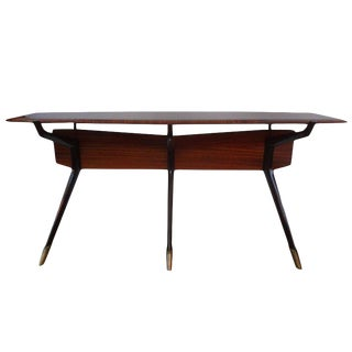 1950's Italian Mid Century Modern Console Table For Sale