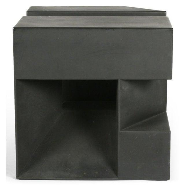 """Black Cube"" Aluminum Sculpture by Alfredo Halegua - Image 3 of 10"